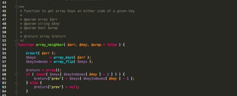 Get Array neighbors in PHP