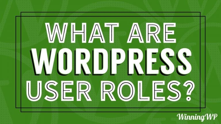 What are WordPress User Roles? Explained!