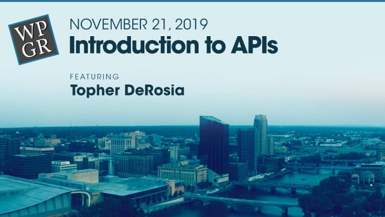Introduction to APIs (Video and Audio)