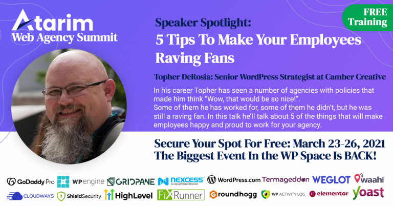 5 Tips To Make Your Employees Raving Fans, Atarim Summit